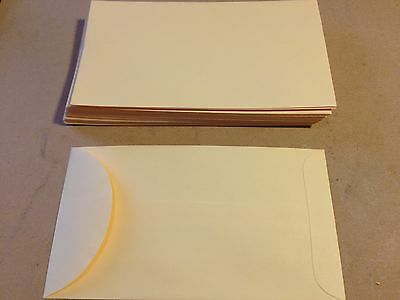 """25 Small Gummed Manila #6 Coin Envelopes 3.375"""" x 6"""" for Jewelry & Watch Repair"""