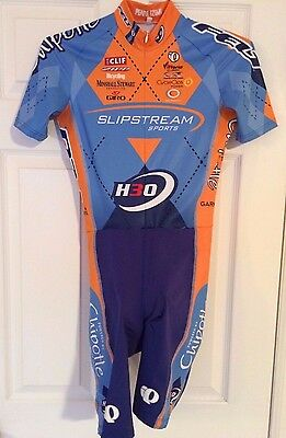 RARE! Pearl Izumi Garmin Slipstream Chipotle Felt Team Men's SS Race Skinsuit M
