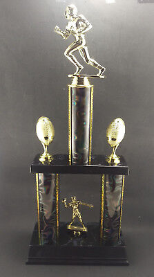 """Large 18"""" Football Trophy Award Youth or Fantasy League. Free engraving."""