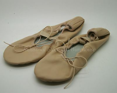 Bloch Girls / Ladies Ballet Shoes Leather Full Sole Pink Size 8.5 USED