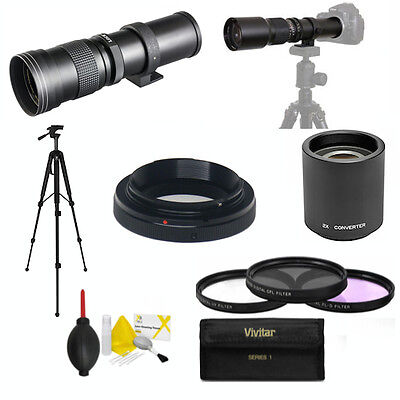 Hd Telephoto Zoom Lens 420-1600Mm For Canon Eos Rebel T1 T2 T3 T4 T5 T6 T2I T3I