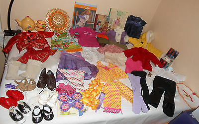 Huge American Girl & Bitty Baby Doll Clothes Outfits And Accessories Lot