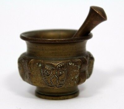 Small Bronze Mortar And Pestle #2