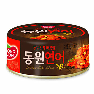Dongwon Premium Coho Salmon Chili Flavor 4.76oz (Can of 3)