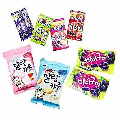 Korean Fun & Chewy Assorted Gummy Candy Pack (8 Count)