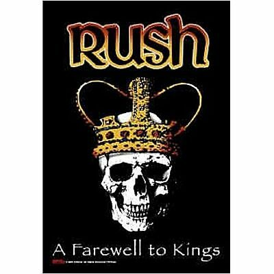 RUSH A Farewell To Kings Skull Cloth Fabric Poster Flag Textile Tapestry Banner