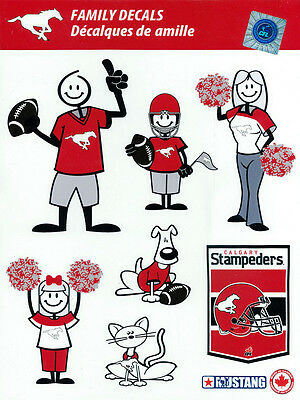 Mustang Family Decals Cfl Calgary Stampeders Free Shipping Car Van Truck Suv