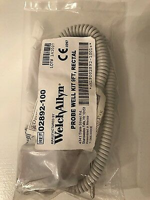WELCH ALLYN 02892-100  RECTAL WELL KIT & 9' RECTAL PROBE NEW 3 Month Warranty