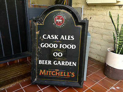 """Vintage Sign - Signage Bar Barware """"The House of Mitchell"""" Advertising Business"""
