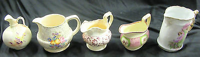 Antique Jugs – Made in England – 5 Assorted Pieces