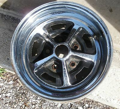 Tapered 5 spoke Rally Style Wheel, chrome is nice