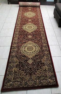 New Extra Long Persian Design Heatset Hallway Floor Runner Rug 80X500Cm