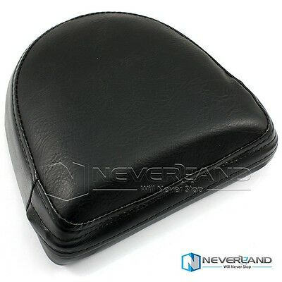 Motorcycle Sissy Bar Backrest Cushion Pad For Harley Yamaha Universal Leather #2