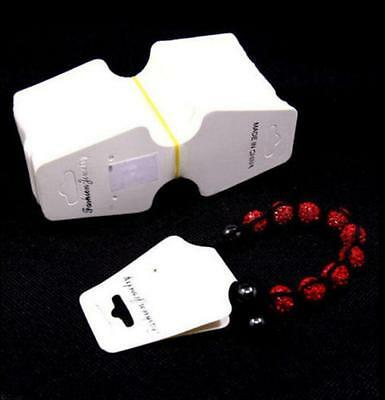 20/50/100pcs Jewelry Necklace Bracelet White Hanging Display Paper Card 30X70mm