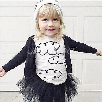 Baby Boys Summer White Cotton T-Shirt Tops Kids Girls Clothes Outfits