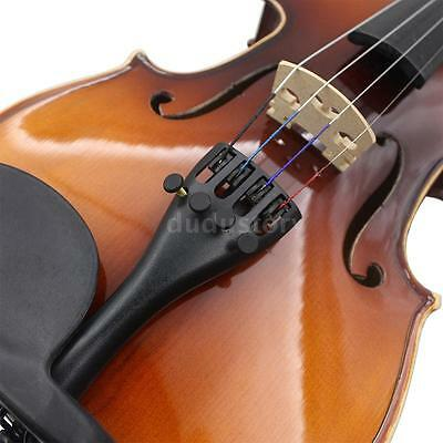 3/4 4/4 Violin Tailpiece Hill Style with Tailgut Tailcord 4 Fine Tuners A7Z5