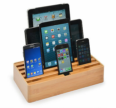 NEW Naturals Large Bamboo Docking & Charging Station by ALLDOCK