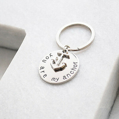 NEW You are my anchor key ring in silver by Buena Vida