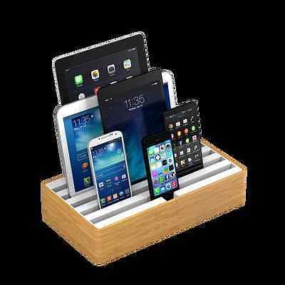 NEW Combination large bamboo and white docking & charging stations by ALLDOCK