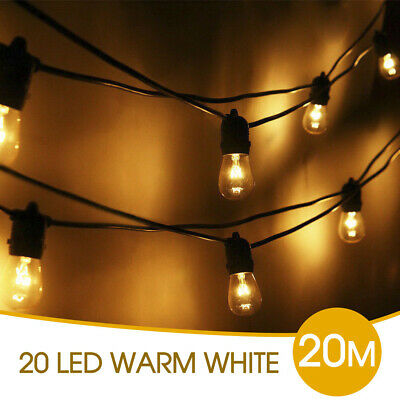 20x Festoon Party String Frosted Globe Lights Kit 20M Vintage Retro Christmas