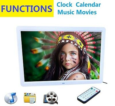"New 15"" LED HD High Resolution Digital Picture Photo Frame + Remote Controller"