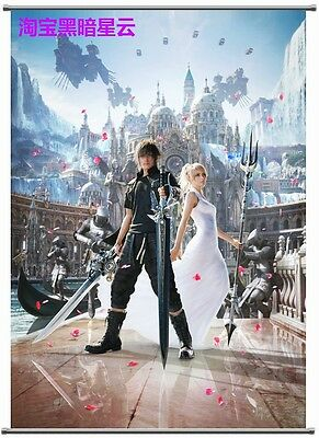 Final Fantasy XV 15 FFXV Noctis Lucis Poster Wall Murals Scroll Painting 40*60cm