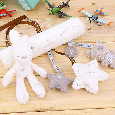 Kid Baby Crib Cot Stroller Pram Hanging Bell Musical Toy Soft Rabbit Bear Star U