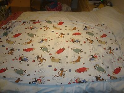 Tintin Fitted Sheet - White with scenes from The Broken Ear