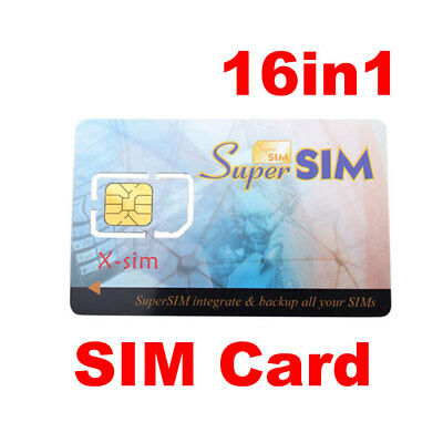 16 in 1 Max SIM Cell Phone Magic Super Card Backup W High Quality