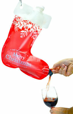 Holiday Hangover Santa's Stocking Flask, 2.25 Liters Christmas Drink Dispenser