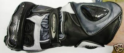 LEATHER MOTORCYCLE ROAD RACE GLOVES NEW! XL RRP $119 Motorbike Racing kevlar