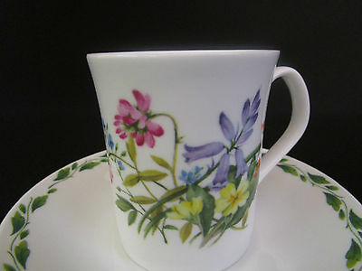 Royal Horticultural Society/Queens The Garden Coffee Cup and Saucer (u)
