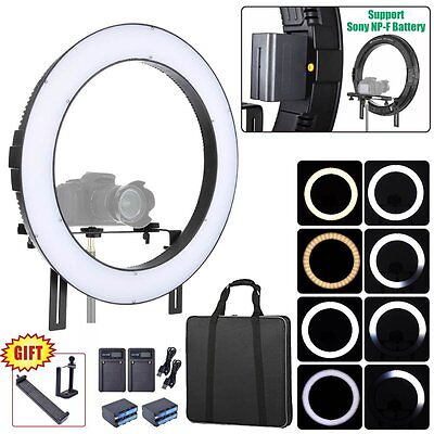 Fotoconic DVR-160TVC 20'' Dimmable LED Ring Light + 2X Battery + 2X Charger Kit