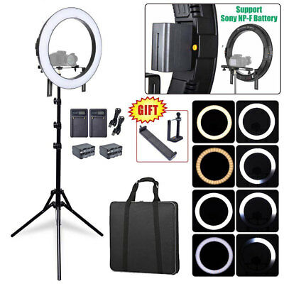 Fotoconic DVR-160TVC 20'' Dimmable LED Ring Light + 6' Stand + Battery + Charger