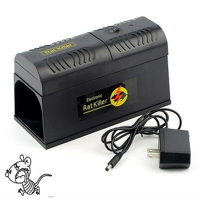 Electronic Mice Rat Killer Rodent Repeller Electric Trap Zapper Pest Control AO
