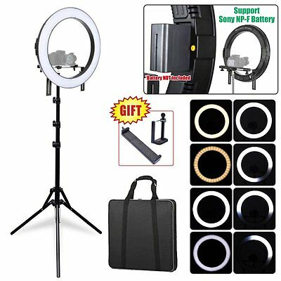 Fotoconic DVR-512DVC 20'' Dimmable LED Ring Light + 6' Stand + Battery + Charger