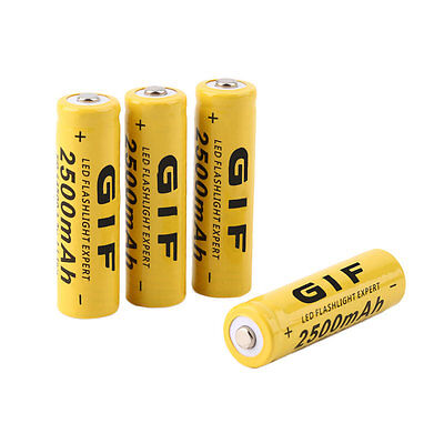 4pcs 3.7V 14500 2500mAh Li-ion Rechargeable Battery For Flashlight Torch AO