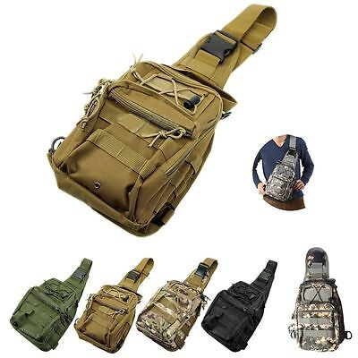 Outdoor Molle Sling Military Shoulder Tactical Backpack Camping Travel Bags AO