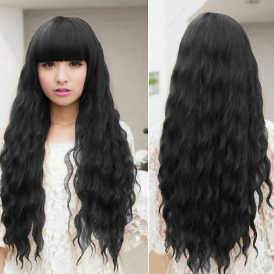 Beauty Fashion Womens Lady Long Curly Wavy Hair Full Wigs Cosplay Party AO