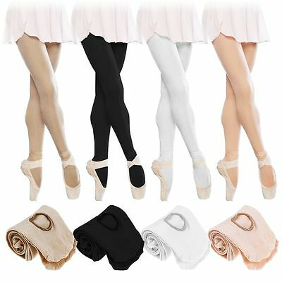 Convertible Tights Dance Stockings Ballet Pantyhose Size Children Adult 4 Colors