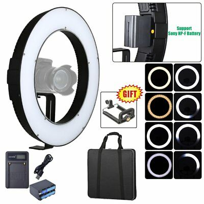 Fotoconic DVR-384DVC 15'' / 38cm Dimmable LED Ring Light + Battery + USB Charger