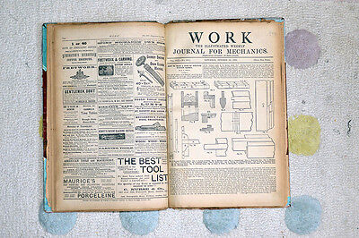 Vintage 19th century scrapbook collection of WORK mechanical publications/illust