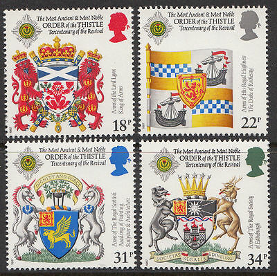 GB MNH STAMP SET 1987 Order of the Thistle SG 1363-1366 10% OFF FOR ANY 5+