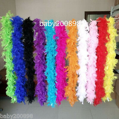 1 pcs QUALITY FEATHER BOA BURLESQUE 2Meter DANCE HEN NIGHT FANCY DRESS ACCESSORY