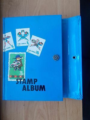 Old Schoolboy Stamp Stock Book Album - Contains Approx 200 Stamps