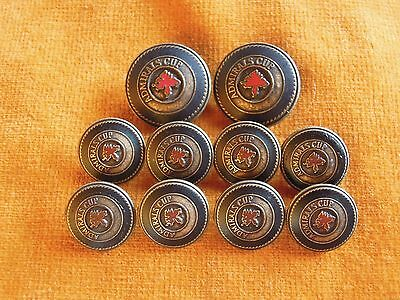 Set of 10 ADMIRALS CUP Collectible Vintage Retro Metal Blazer Buttons #912