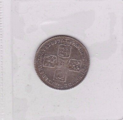 1746 George Ii Lima Sixpence In Very Fine Condition