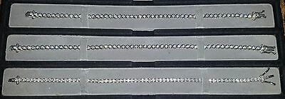 925 Sterling Silver Tennis Bracelet with CZ stones - Fully Hallmarked