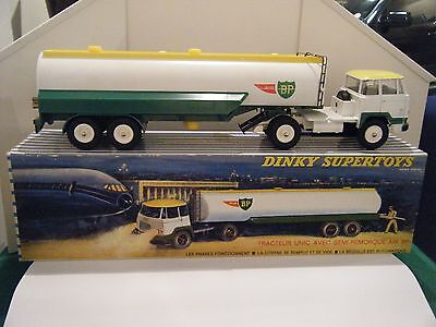 "French Dinky No: 887 ""Unic Tractor With Air BP Tanker"" - (Boxed/Original 1960's)"