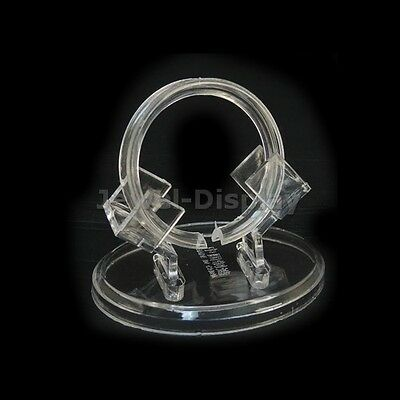 10 Set Clear Acrylic Bangles Bracelet Retail Shop Display Riser Stand Holder
